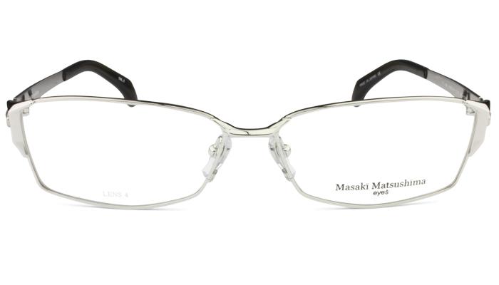 マサキマツシマ フレーム Masaki Matsushima mf-1207 c.1 シルバー 眼鏡 メガネ 老眼鏡 遠近両用 新品 送料無料 mf3