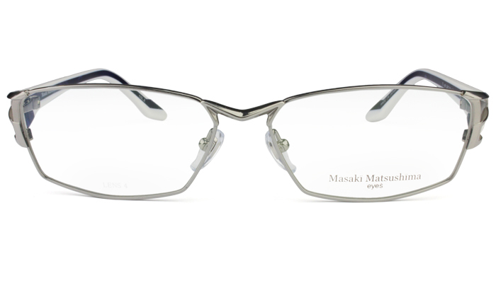 マサキマツシマ Masaki Matsushima mf-1221 c.2 グレー/ホワイト・ブルーパール 眼鏡 メガネ 老眼鏡 遠近両用 新品 送料無料  mf8