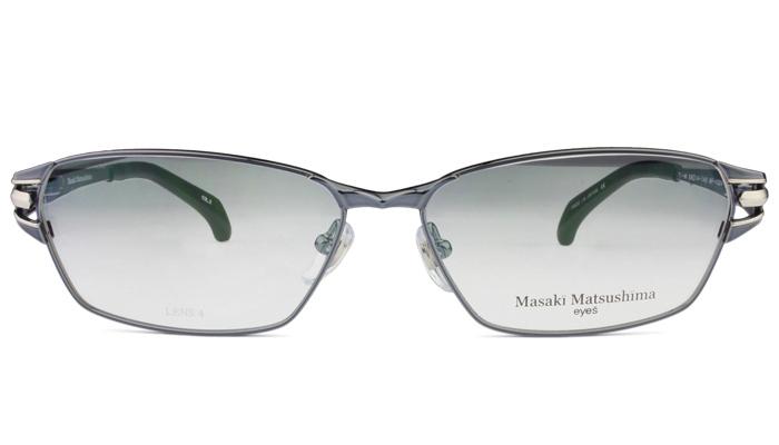 マサキマツシマ Masaki Matsushima mf-1224 c.2 ブルーグレー・シルバー 眼鏡 メガネ 老眼鏡 遠近両用 新品 送料無料 mf6