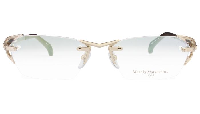 曲線美を感じさせるダイナミックなヨロイからテンプルへのフォルム。 57サイズ マサキマツシマ Masaki Matsushima mf-1226 c.1 シャンパン 眼鏡 メガネ 老眼鏡 遠近両用 新品 送料無料 mf7