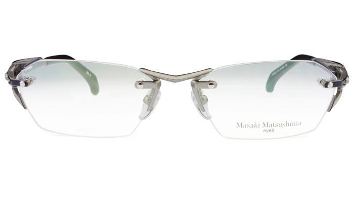 マサキマツシマ Masaki Matsushima mf-1226 c.3 グレー/グレー・ネイビー 眼鏡 メガネ 老眼鏡 遠近両用 新品 送料無料 mf7