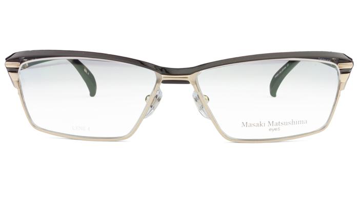 マサキマツシマ Masaki Matsushima mf-1227 c.1 ブラウン・シャンパン/ブラウンデミ 眼鏡 メガネ 老眼鏡 遠近両用 新品 送料無料 mf8