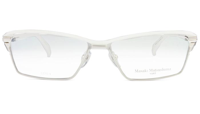 マサキマツシマ Masaki Matsushima mf-1227 c.2 ホワイト・シルバー/ホワイト 眼鏡 メガネ 老眼鏡 遠近両用 新品 送料無料 mf8