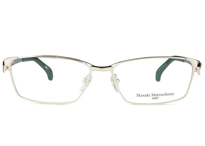 ■マサキマツシマ MASAKI MATSUSHIMA■mf-1242 c.1 mf3 ホワイトゴールド■伊達 メガネ めがね 眼鏡■度付き メンズ レディース 新品 送料無料