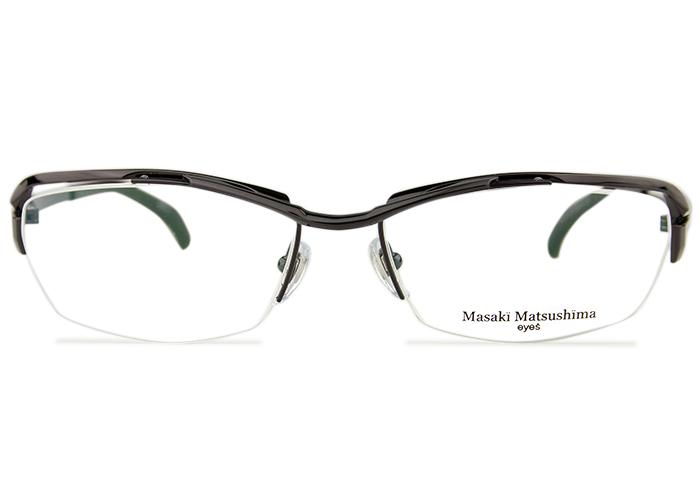 ■マサキマツシマ Masaki Matsushima■MF-1249 c.4 ガンメタル/ライトグレー■伊達 度付き 大きい メガネ■新品 送料無料 めがね 眼鏡■57□17