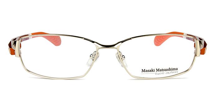 マサキマツシマ Masaki Matsushima mfs-111 c.1 ゴールド/オレンジイエロー 眼鏡 メガネ 老眼鏡 遠近両用 新品 送料無料