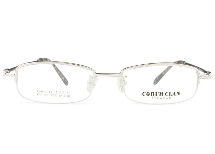 アイカフェ EYE CAFEc3151 c.2 シルバー形状記憶 メガネ めがね 眼鏡伊達 度付き 新品 送料無料