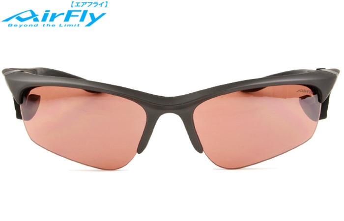 エアフライ AirFly AF-101 c.5 ガンメタリック/ピンクブラウン 鼻パッドのないサングラス 度付対応(ご相談下さい) サングラス 新品 送料無料