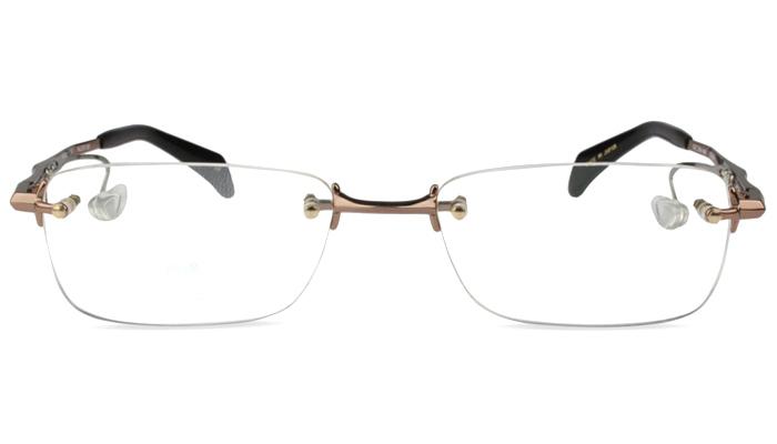 ネオジン NEOJIN nj2313s c.30 ブラウン 鼻パッドなしメガネ サイドパッド ツーポイント メガネ 眼鏡 遠近両用 新品 送料無料 52サイズ