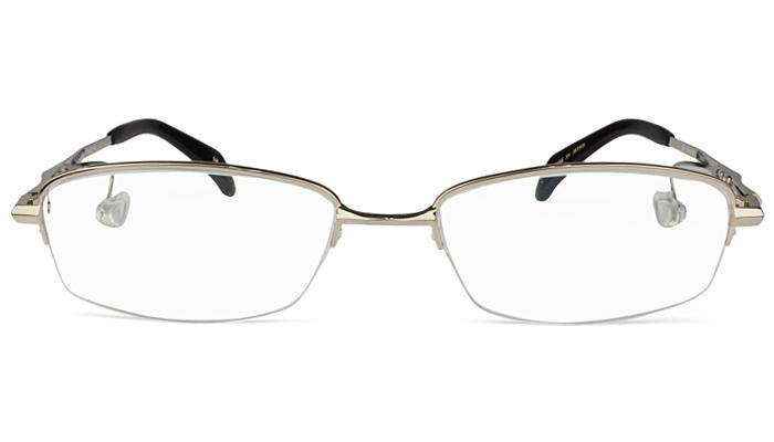 ネオジン NEOJIN nj2314s c.10 ゴールド 鼻パッドなしメガネ サイドパッド メガネ 眼鏡 遠近両用 新品 送料無料 53サイズ