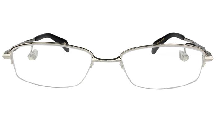 ネオジン NEOJIN nj2314s c.40 シルバー 鼻パッドなしメガネ サイドパッド メガネ 眼鏡 遠近両用 新品 送料無料 53サイズ