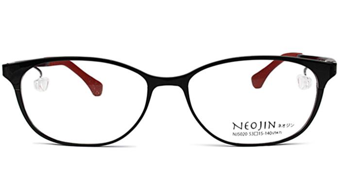 メンズ レディースネオジン NEOJIN COMFORTは世界初の鼻パッドないメガネフレーム。 53サイズ ネオジン NEOJIN nj5020 c.10 ブラック/レッド 鼻パッドなしメガネ サイドパッド メガネ 眼鏡 新品 老眼鏡 遠近両用 新品 送料無料