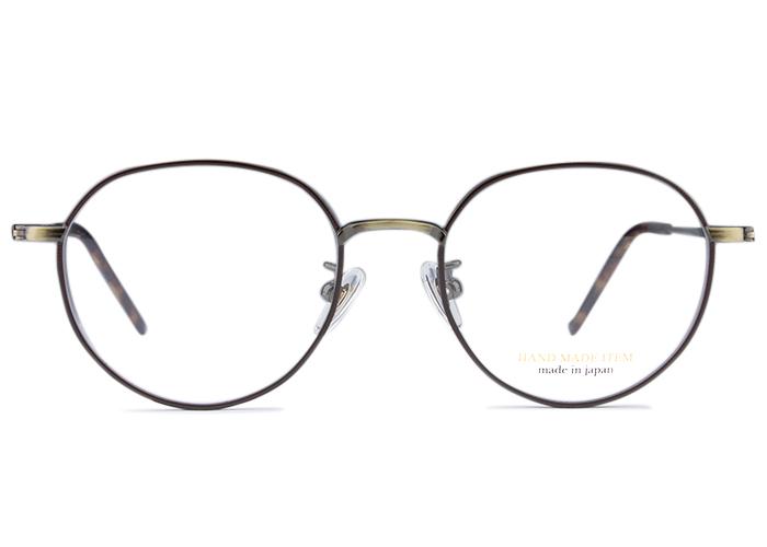 ■ノヴァ NOVA■h-3101 c.5 nv2 アンティークゴールド/ブラウン■メガネ めがね 眼鏡■伊達 度付き 新品 送料無料