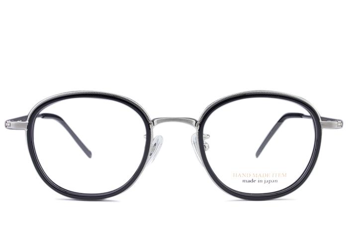 ■ノヴァ NOVA■h-3102 c.1 nv3 シルバー/ブラック■メガネ めがね 眼鏡■伊達 度付き 新品 送料無料