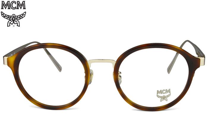 エムシーエム MCM MCM2115A 214 ブラウンデミ/ゴールド 鼻パット 度無し/度付き メガネ 眼鏡 新品 送料無料