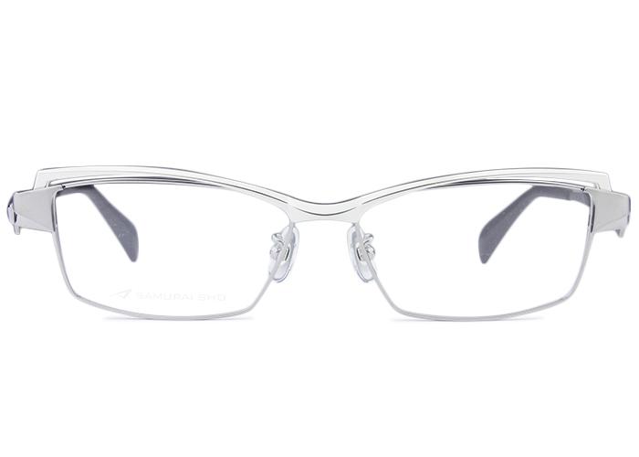 ■サムライショウ SAMURAI SHO■ss-t107 c.2 シルバー・グレー/シルバー■伊達 メガネ めがね 眼鏡■度付き メンズ 新品 送料無料