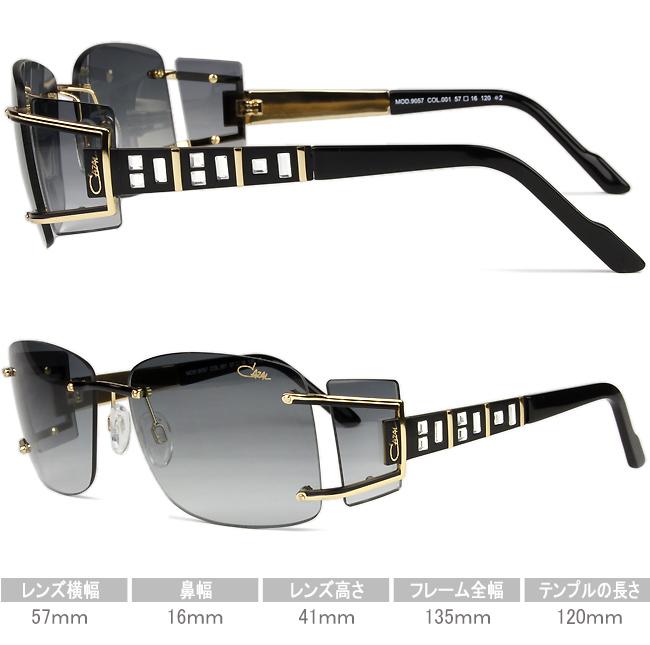 ♦ Casal CAZAL ♦ black gold ♦ 57 size ♦ ♦ MOD.9057 001 cz005