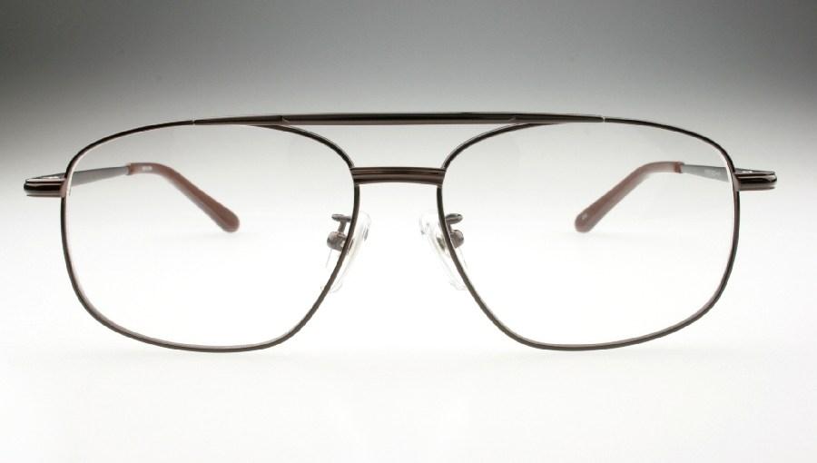 紳士用 メガネ 眼鏡ダテメガネ 伊達眼鏡 だてめがね ★ブラウン★10-007-c2-54-r126