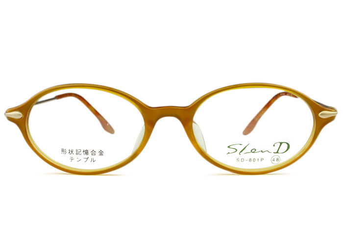 スレンディー Slen D sd-801p c.3 あんず色/ゴールド メガネ 眼鏡 伊達 新品 送料無料 sd2