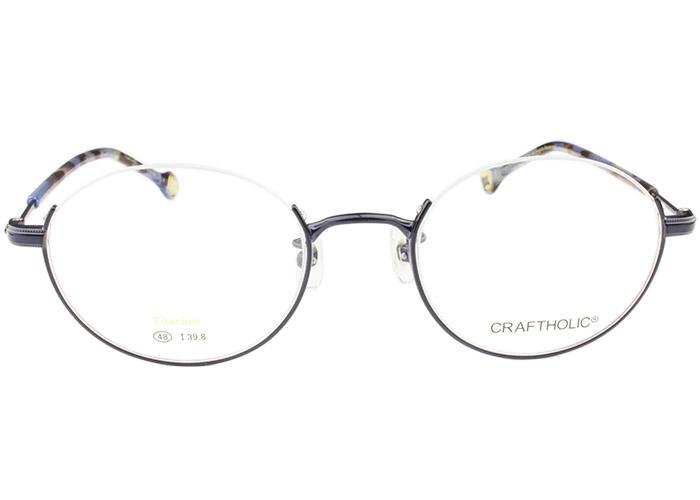 CRAFTHORIC クラフトホリック cr-2003 c.4 ネイビ- アンダーリム メガネ 眼鏡 伊達 新品 送料無料