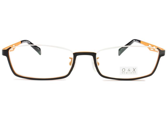 オーアンドエックス/ニューヨークO&X/NEW YORK アンダーリムot-8044j c.01 ブラック/オレンジアンダーリム メガネ 眼鏡 めがね 伊達 鼻パッド 新品 送料無料