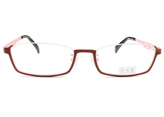 オーアンドエックス/ニューヨークO&X/NEW YORK アンダーリムot-8044j c.04 ボルドー/ピンクアンダーリム メガネ 眼鏡 めがね 伊達 鼻パッド 新品 送料無料