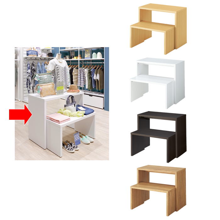 木製スリムコの字テーブル Mサイズ 幅90cm カラー4色 EX6-425-76-2【代金引換不可】【北海道・沖縄・離島送料別途】
