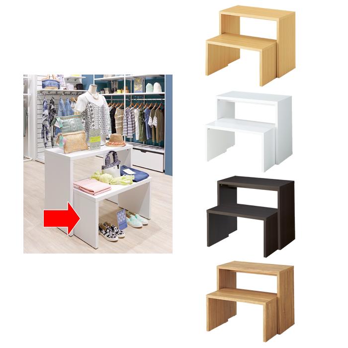 木製スリムコの字テーブル Sサイズ 幅82cm カラー4色 EX6-425-76-1【代金引換不可】【北海道・沖縄・離島送料別途】