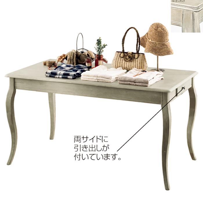 ディスプレイテーブル アンティーク加工 大サイズ 木製 グレー EX6-80-10-1【代金引換不可】【北海道・沖縄・離島送料別途】