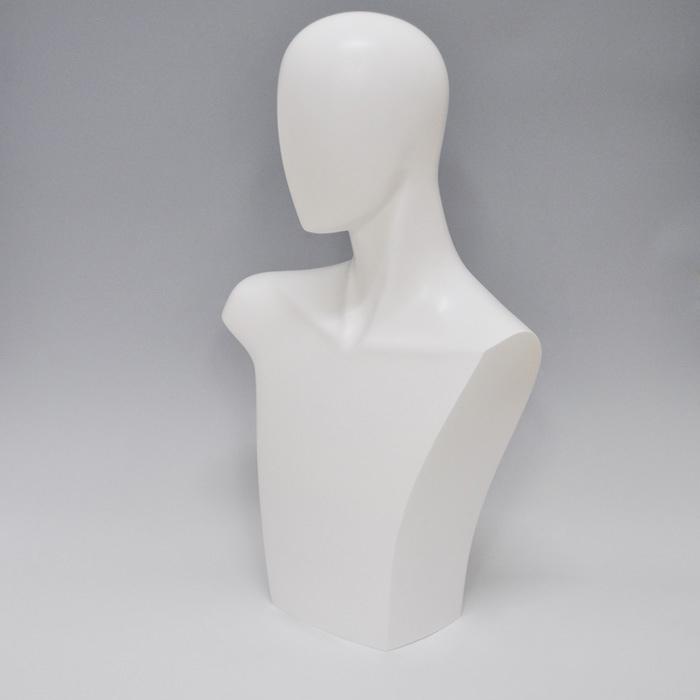 マネキンヘッド ファッショングッズトルソー メンズ 上半身 白 D10-G【北海道・沖縄・離島送料別途】