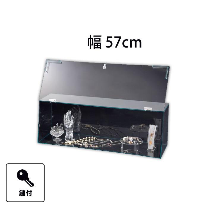 透明アクリルショーケース 鍵付き 幅57cm EX6-156-2-1【代金引換不可】【北海道・沖縄・離島送料別途】