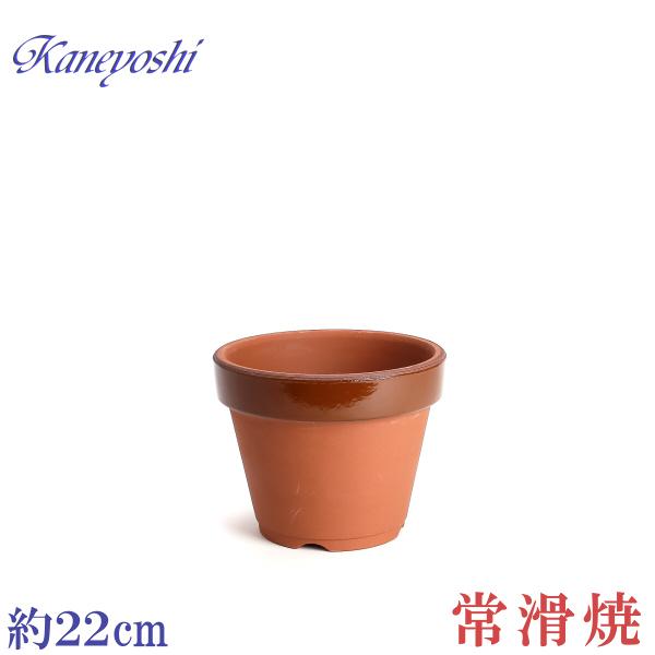 丈夫な植木鉢 日本製の陶器鉢 小型から大型まで種類豊富です 引き出物 植木鉢 陶器 おしゃれ 21cm 7号 駄温鉢 本日限定 安くて丈夫 サイズ 深型