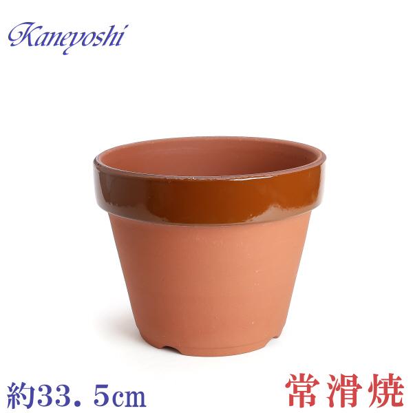 丈夫な植木鉢 驚きの値段で 日本製の陶器鉢 小型から大型まで種類豊富です 植木鉢 陶器 セールSALE%OFF おしゃれ 駄温鉢 サイズ 33cm 安くて丈夫 11号 深型