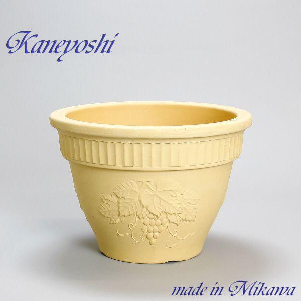 植木鉢 日本製の陶器鉢 室内 セール 特集 屋外でも おしゃれな白 オフホワイト 陶器 サイズ おしゃれ 安心の定価販売 10号 安くて丈夫 31cm ヨーロピアン 白焼