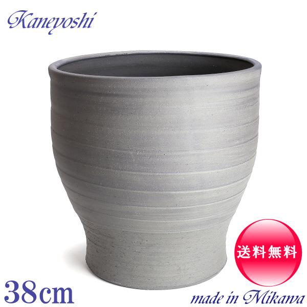 水瓶変型13号 睡蓮鉢 めだか鉢 金魚鉢 鉢カバーにも 水鉢 陶器 大型 安くて丈夫!日本製(三河焼)おしゃれ サイズ37cm 手造り エンシャント