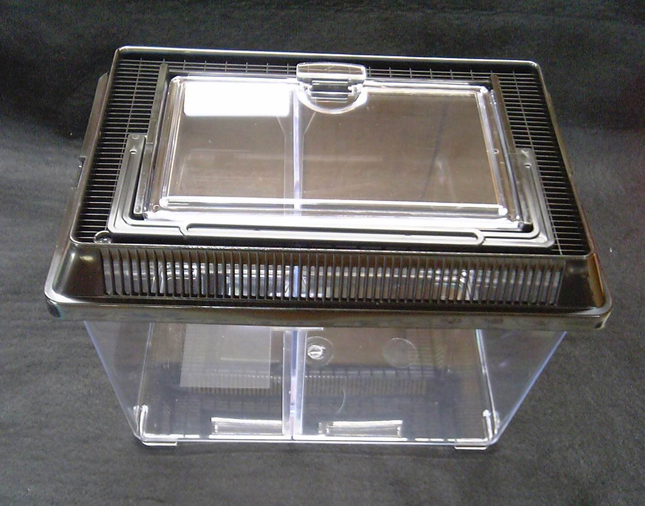 店内全品対象 多目的飼育 移動可能 仕切り板付き飼育ケース S小型 ×12個セット 全国一律送料無料