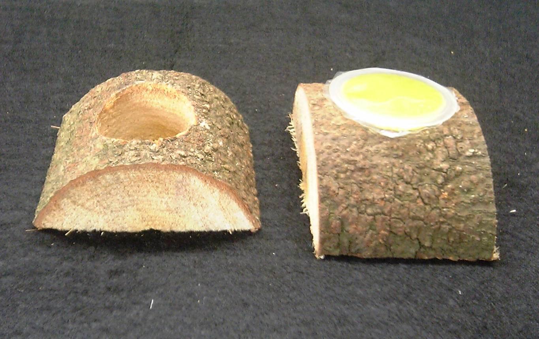 昆虫ゼリー 16g用 エサ皿 (かまぼこ型)1つ穴×60個セット