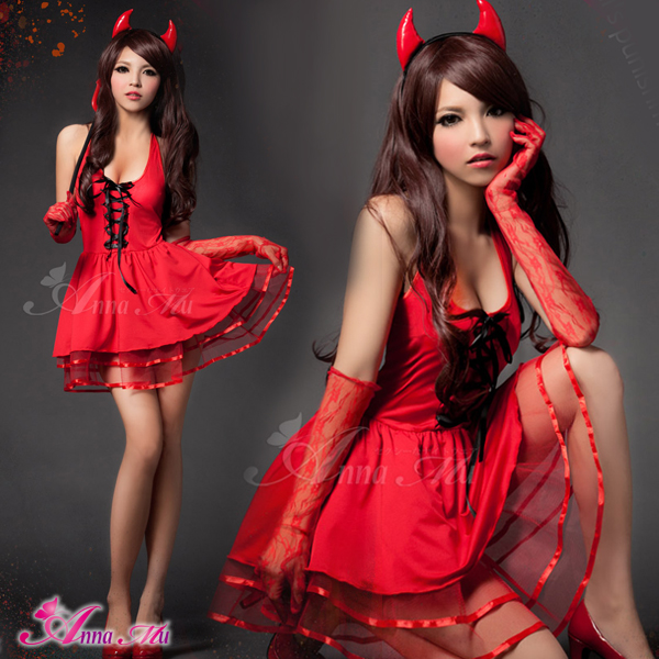 a9855fba7ec Puffy nipples straining Christmas cosplay costume fancy dress Devil Devil  witch women Christmas Costume Adult miniskirt z1169 red black costume and  cosplay ...