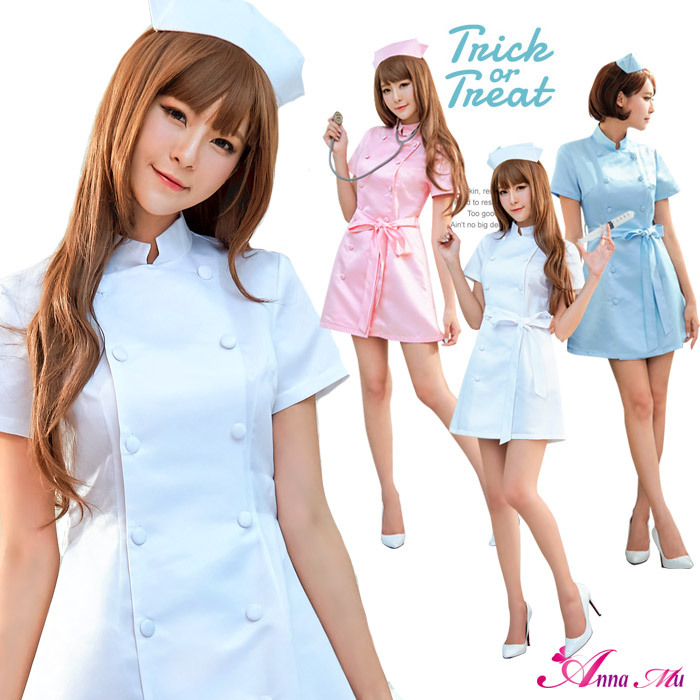 2c8ca3f9f Puffy nipples straining cosplay nurse nurse outfit nurse uniform doctor Joi  white minivan API white costume ...