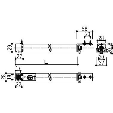 YKKAP クローザ HH-2K-15520-930 引戸(引き戸)用クローザー