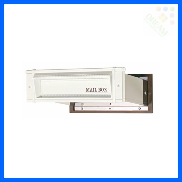水上金属 メイルシュート No.18 真壁用(壁厚調整範囲95~140mm) ホワイト