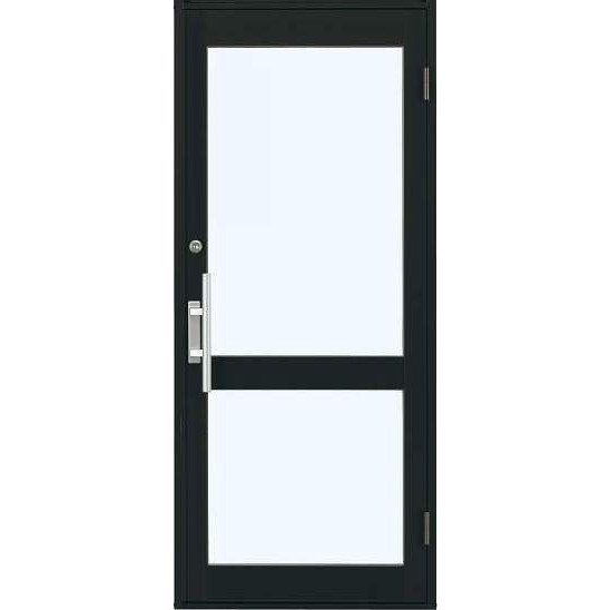 YKKap 店舗ドア7TD 片開き 複層ガラス 1ロック仕様 中桟付き W868xH2018mm アルミサッシ 事務所ドア 汎用ドア