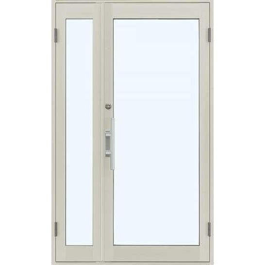 YKKap 店舗ドア7TD 親子 単板ガラス 1ロック仕様 中桟無し W1235xH2018mm アルミサッシ 事務所ドア 汎用ドア