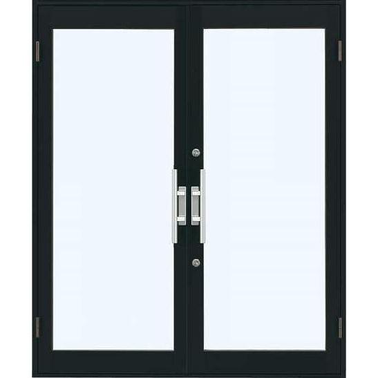 YKKap 店舗ドア7TD 両開き 単板ガラス 2ロック仕様 中桟無し W1690xH2018mm アルミサッシ 事務所ドア 汎用ドア