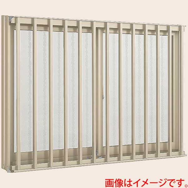 【7月はエントリーでP10倍】アルミサッシ 窓 縦面格子付引き違い 11905 W1235*H570 LIXIL/リクシル デュオPG アルミサッシ 引違い窓 リフォーム DIY