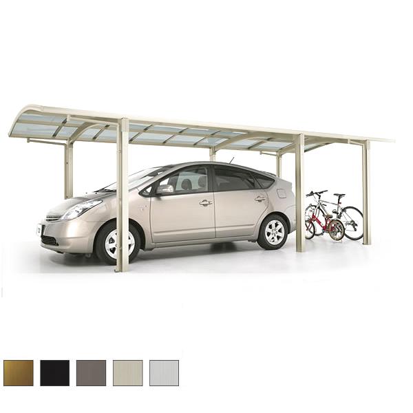 LIXIL/リクシル カーポート 1台用+二輪車用 カルエードシグマIII 延長 一般タイプ 5730 W3057×L7098 駐車場 車庫 ガレージ 本体