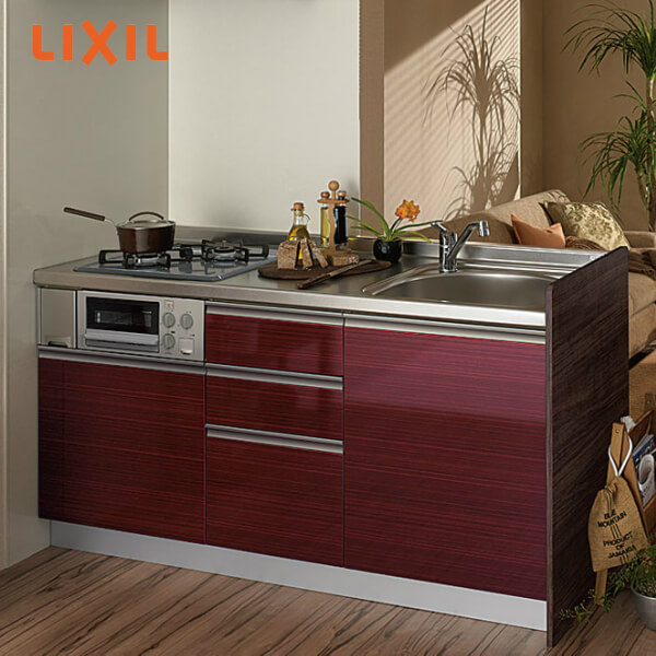 LIXILコンポーネントキッチン サンファーニ ティオ 壁付型 ステップアップパッケージプラン 卓上食洗器対応タイプ(56シンク) 間口195cm 扉034シリーズ 下部のみ