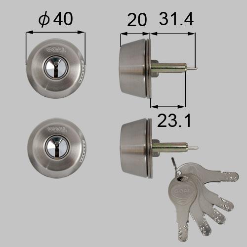 LIXIL/TOSTEM製玄関ドア用ドア錠セット(GOAL D9シリンダー) DCZZ1310[リクシル][トステム]