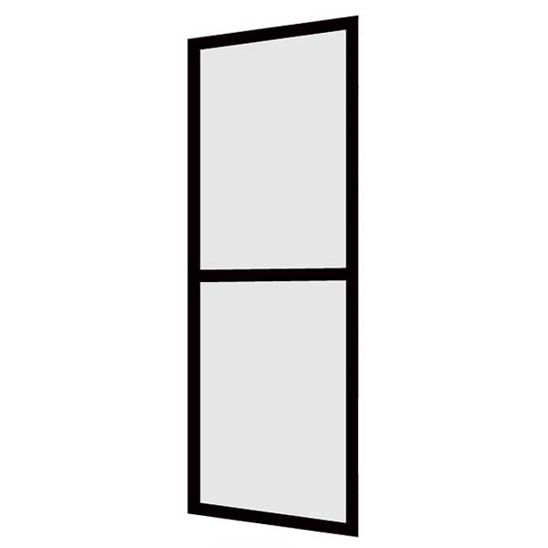 LIXIL/リクシル 玄関引戸(玄関引き戸) 菩提樹用網戸 2枚建戸ランマ無 普通枠 242型(二本格子腰付) 61598 W1800*H1847【玄関】【出入口】