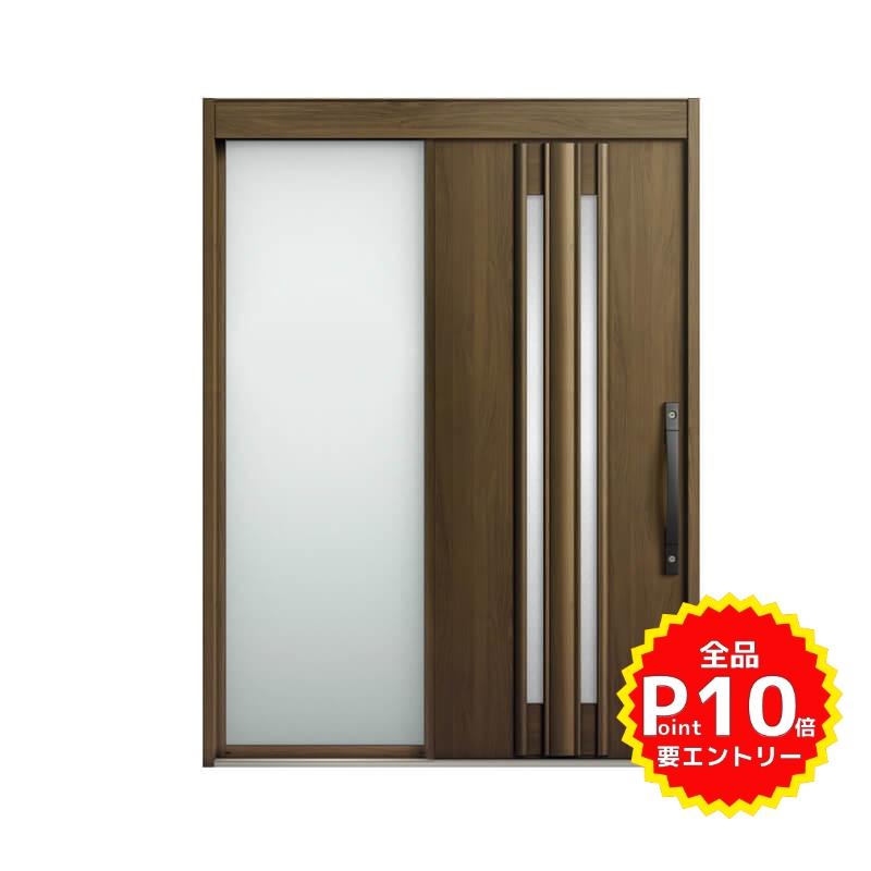 玄関引戸 リクシル エルムーブ2 L14型 片袖 本体鋼板仕様 呼称W164 W1640×H2288mm 玄関引き戸 LIXIL/TOSTEM トステム 玄関ドア サッシ リフォーム DIY